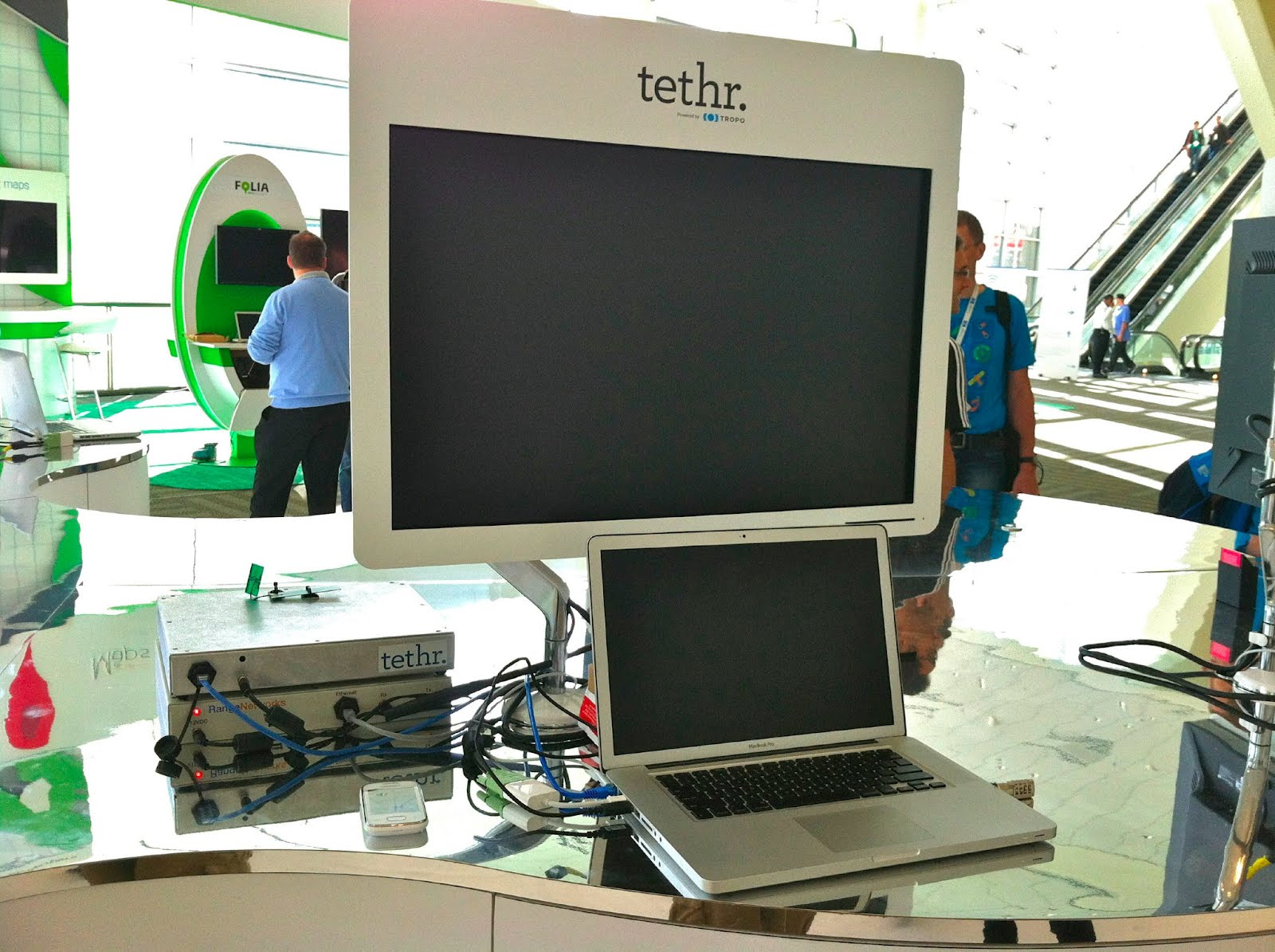 Tethr in action at Google I/O 2012